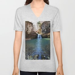 Alone in Secret Hollow with the Caves, Cascades, and Critters, No. 21 of 21 Unisex V-Neck