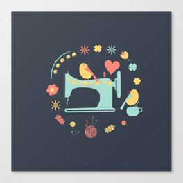 Love sewing Canvas Print