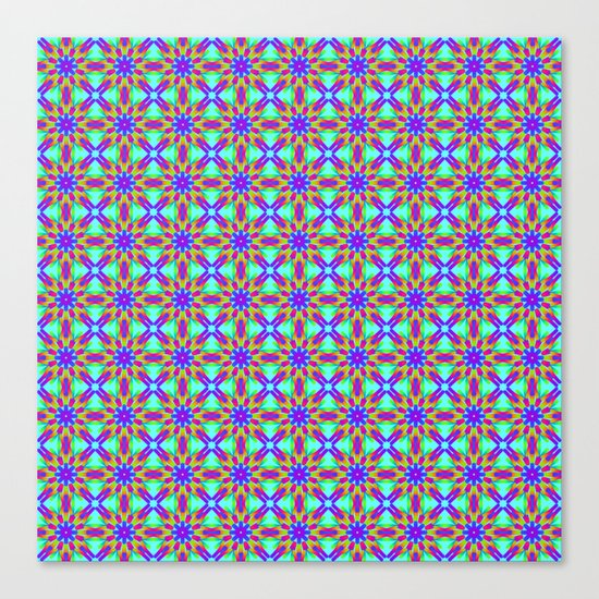 Tribal patterns in rainbow colors Canvas Print