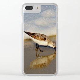 Beach Bird Clear iPhone Case