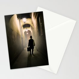 Victorian man with top hat Stationery Cards