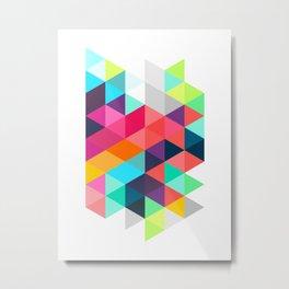 Crystallize Metal Print
