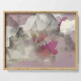 Pink Cloud Dragon Serving Tray
