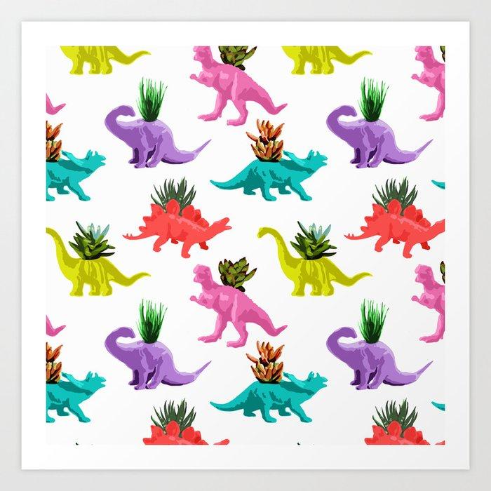Dinosaur Planters Art Print