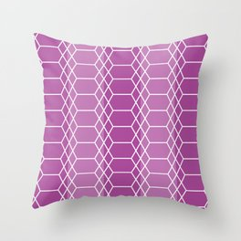 Hexagon Lace_Purple Throw Pillow
