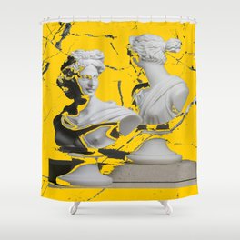 GREEK GODS YELLOW MARBLE Shower Curtain