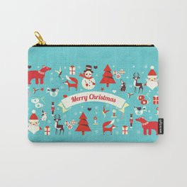 Christmas icons illustration Carry-All Pouch