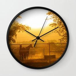 Morning In Canutillo Wall Clock