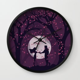 Pocahontas and John Smith Wall Clock