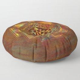 Colorful Sri Yantra  / Sri Chakra Floor Pillow