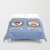 merlin Duvet Covers featuring Merlin and Arthur Portraits by sirwatson