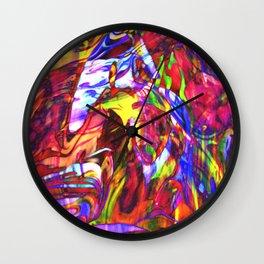 Fluid Painting  Wall Clock