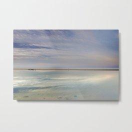"""Peace at the seasunset"". Magic reflections Metal Print"