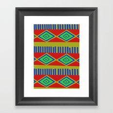 Tone down Mexcian Print Framed Art Print