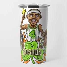 Fire it up! Boston #Basketball– #IsaiahThomas #JaeCrowder #MarcusSmart Travel Mug