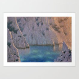 Calanque (Six in the Evening) Twilight by Lucien Lévy-Dhurmer Art Print