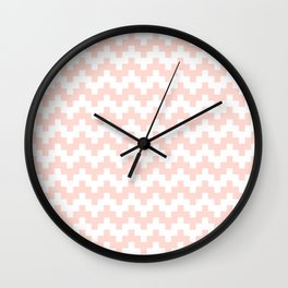 SALMON ABSTRACT WAVE PATTERN Wall Clock