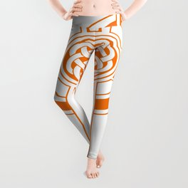St Patrick's Day Celtic Cross Orange and White Leggings