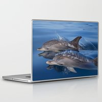 dolphins Laptop & iPad Skins featuring Dolphins by Chloe Yzoard