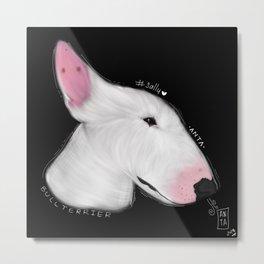 Bullterrier art Metal Print