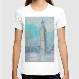London Palace of Westminster S050 Large impressionism acrylic painting art by artist Ksavera T-shirt