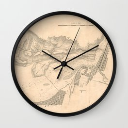 Vintage Map of The Potomac River (1838) Wall Clock