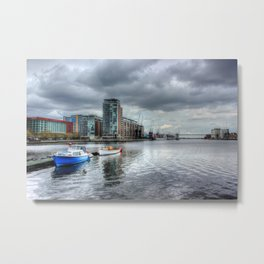 Boats on the Thames HDR Metal Print