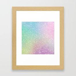 Ombre glitter #12 Framed Art Print
