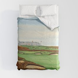 Shinnecock Hills Golf Course With Clubhouse Comforters