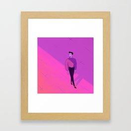 walking man Framed Art Print