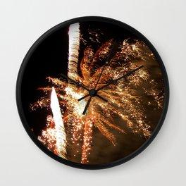 Feisty fireworks Wall Clock