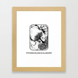 Breastfeeding - the biological norm Framed Art Print