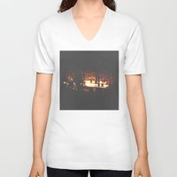 bar V-neck T-shirts featuring Bar by ONEDAY+GRAPHIC