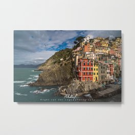 Riomaggiore, Cinque Terre, Italy (view from the seaside) Metal Print