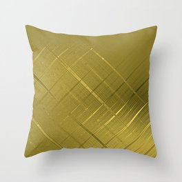 Diagonal Shimmer Streaks Throw Pillow