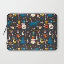 Christmas symbols pattern Laptop Sleeve