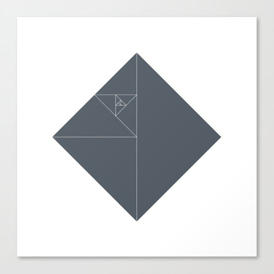 #51 Death star – Geometry Daily Canvas Print
