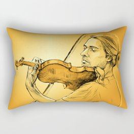 Violinist plays music - colour version Rectangular Pillow