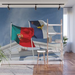 Portugal and Azores flags Wall Mural