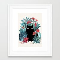 spring Framed Art Prints featuring Popoki by littleclyde