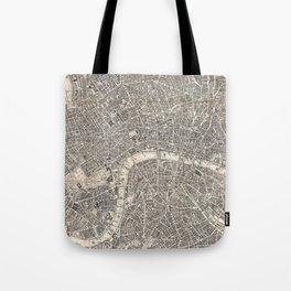 Vintage Map of London England (1899) 2 Tote Bag
