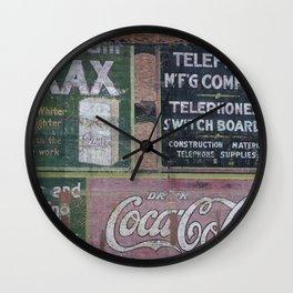 Coca-Cola & Borax Wall Clock