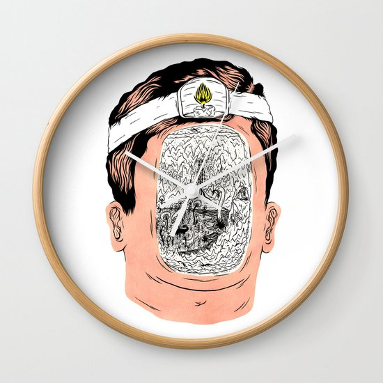 Journey to the center of the earth Wall Clock
