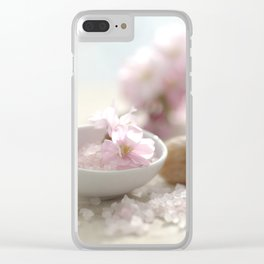 Still life for Bathroom with almond blossoms Clear iPhone Case