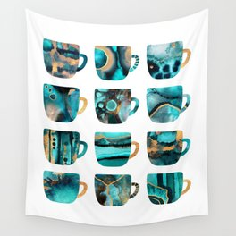 My Favorite Coffee Cups Wall Tapestry