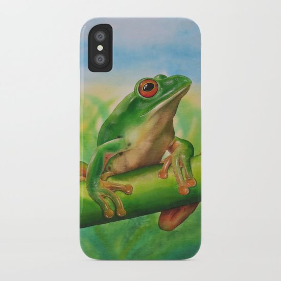 Green Treefrog iPhone Case
