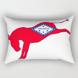 Arkansas Democrat Donkey Flag Rectangular Pillow
