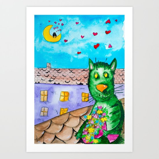 I'm going on date Art Print