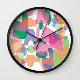 C O L L A G E of S H A P E Wall Clock