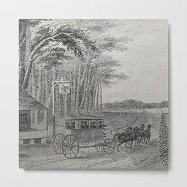Stagecoach, circa late 1700s Metal Print